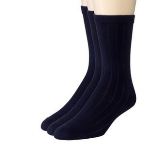 Sportoli Navy Blue Crew Uniform Socks 3 Pack